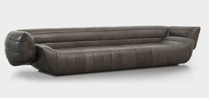 tactile leather sofa